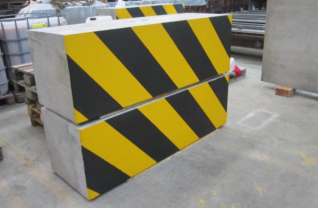Modulobloc blocs en béton en zebra (jaune-noir)